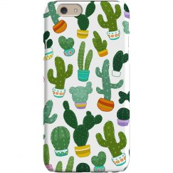 Cacti Prickly Print iPhone Case