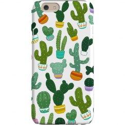 Cacti Prickly Print iPhone Case