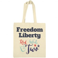 Freedom Liberty - Red, White & Two