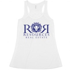 White Ladies Flowy Tank