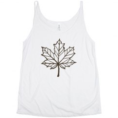 Fall leaf tank top.