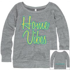 Home Vibes cozy sweatshirt gray