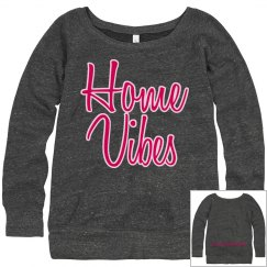 Home vibes cozy sweatshirt dark charcoal