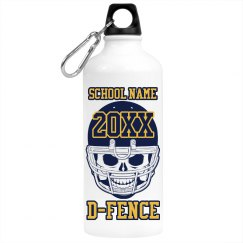 School Football Bottle
