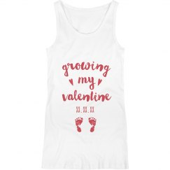 Growing my Valentine Custom Maternity Tank