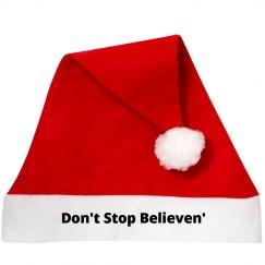 Dont Stop Believen' Santa Hat