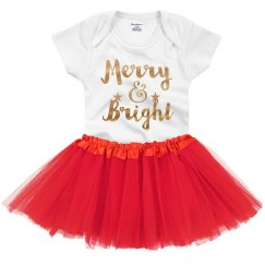 Metallic Merry & Bright Xmas Baby