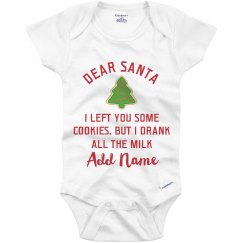 Dear Santa Custom Xmas Onesie