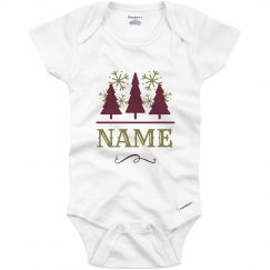 Custom Name Christmas Tree Baby