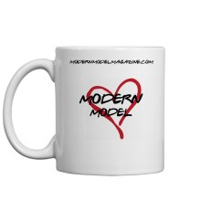 Modern Model Coffee Mug (Red Heart)