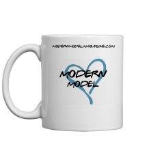 Modern Model Coffee Mug (Blue Heart)