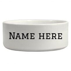 Custom Name Dog Bowl