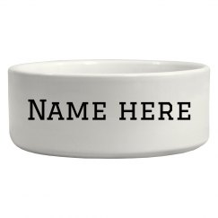 Custom Name Dog Bowl