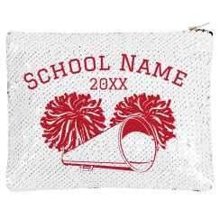Cheer School Zip Sequin Bag