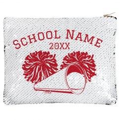 Cheer School Zip Sequin Bag