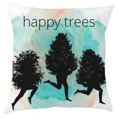 happy trees pillow cover