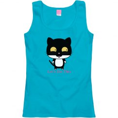 Cute Cat - Misses Scoop Neck Tank Top