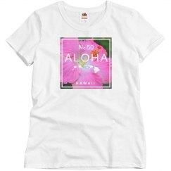 Aloha Hawaii Pink Hibiscus top