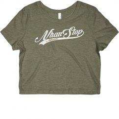 NhanStop Models Cropped T-Shirt Grey