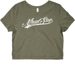 NhanStop Models Cropped T-Shirt Grey