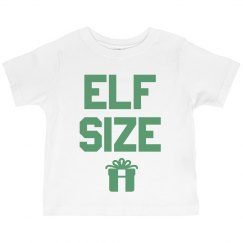 Cute Elf Size Toddler Ruffle Tee