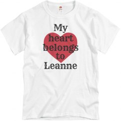 Heart belongs to leanne