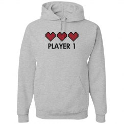 Player 1 Video Game Hearts