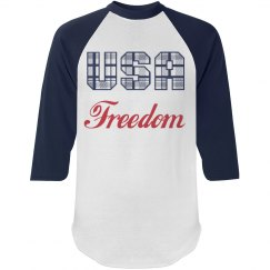USA Freedom Mens Long Sleeved Top