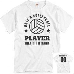Volleyball Boyfriend Funny Shirt