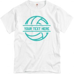 Add Your Text Custom Volleyball