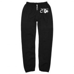 Black warm up pants