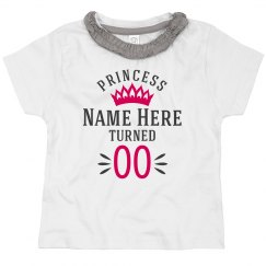 Custom Princess Birthday Top