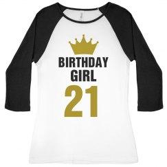 Birthday Girl Raglan