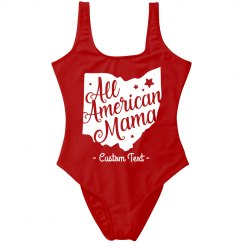 All American Mama One Piece Swimsuit
