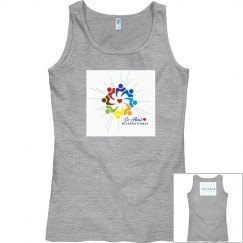 "Womens Tank  ""Love Heals"" back"