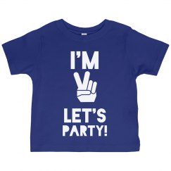 I'm 2, Let's Party Tee