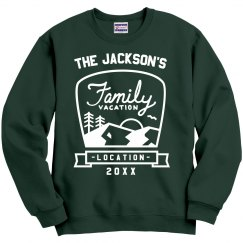 Custom Family Vacation Sweatshirts