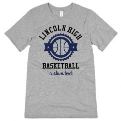 Custom School Basketball Mom Tee