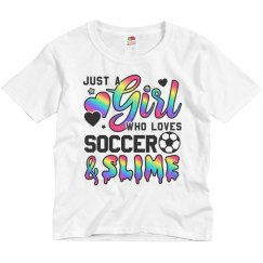 Girl Who Loves Soccer And Slime