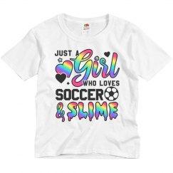Girl Who Loves Soccer And Slime