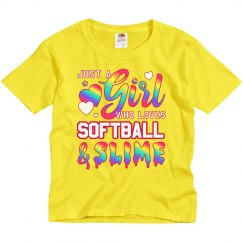 Girl Who Loves Softball And Slime
