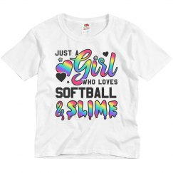 Softball And Slime Kids Girls Gift