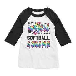 Kids Softball & Slime Gift For Girl
