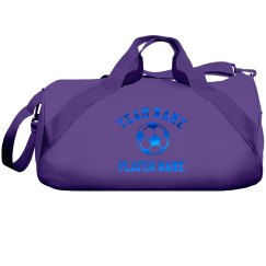 Custom Blue Metallic Soccer Player