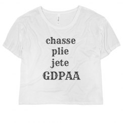 GDPAA Ladies Flowy Crop Top