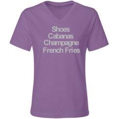 Shoes & Champagne VNeck