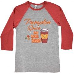 Pumpkin Spice Baseball Jersey