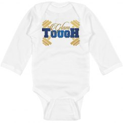 GlamTough Tough Infant Long Sleeve Baby Rib Onesie