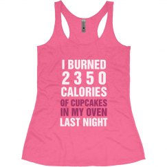 Funny Fitness Burning Cupcakes