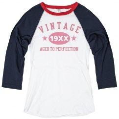 Pink Vintage Year Raglan